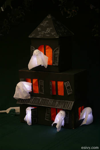 Make Your Own Halloween Decorations Tissue Box Haunted House