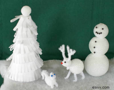 winter craft ideas for kids pipe cleaner animals