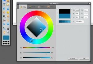 Pixlr tutorial: color selector