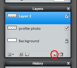 Pixlr tutorial: new layer