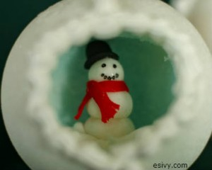 Winter craft peek big window