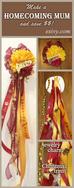 homecoming mum diy collage